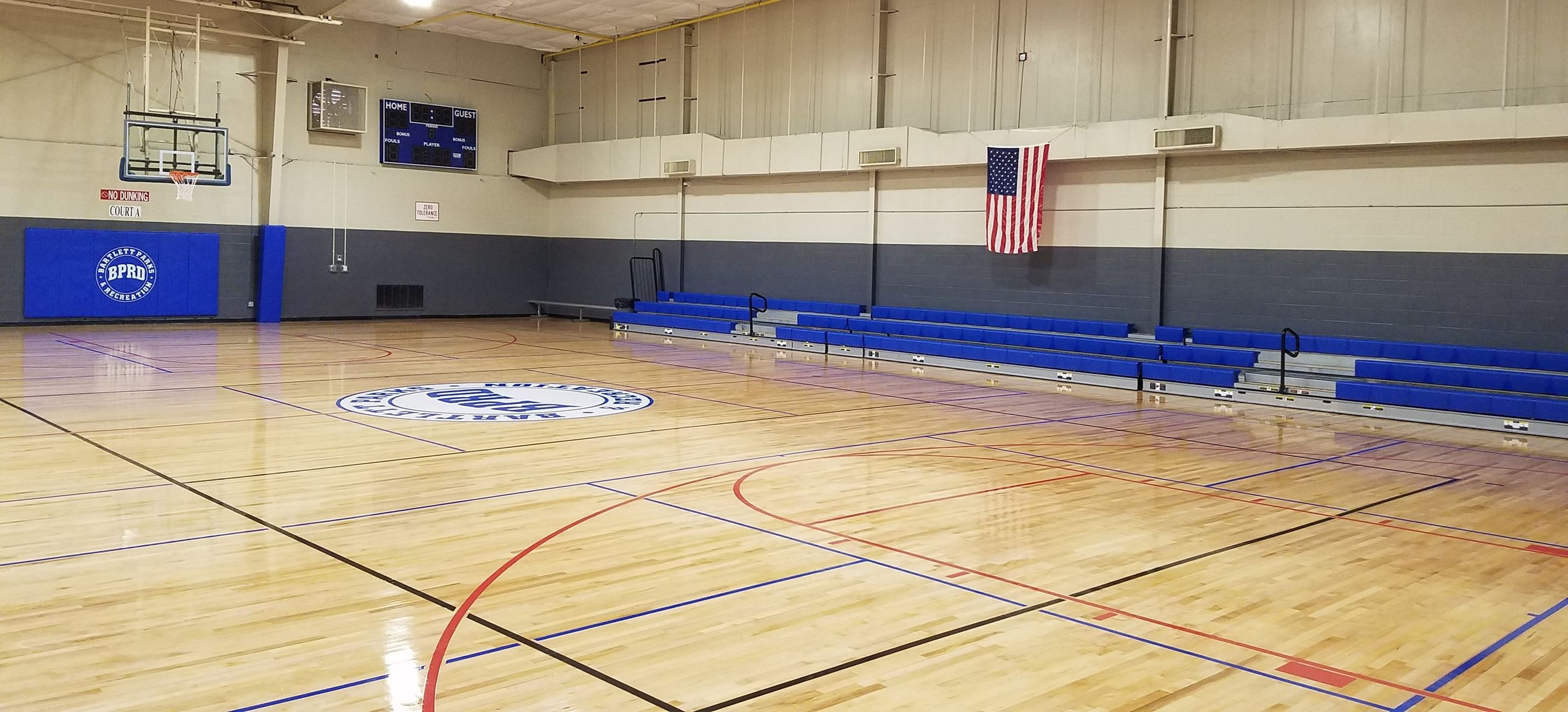 Gym Pic new floor pads and paint