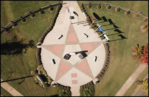 View of Veterans Park from above