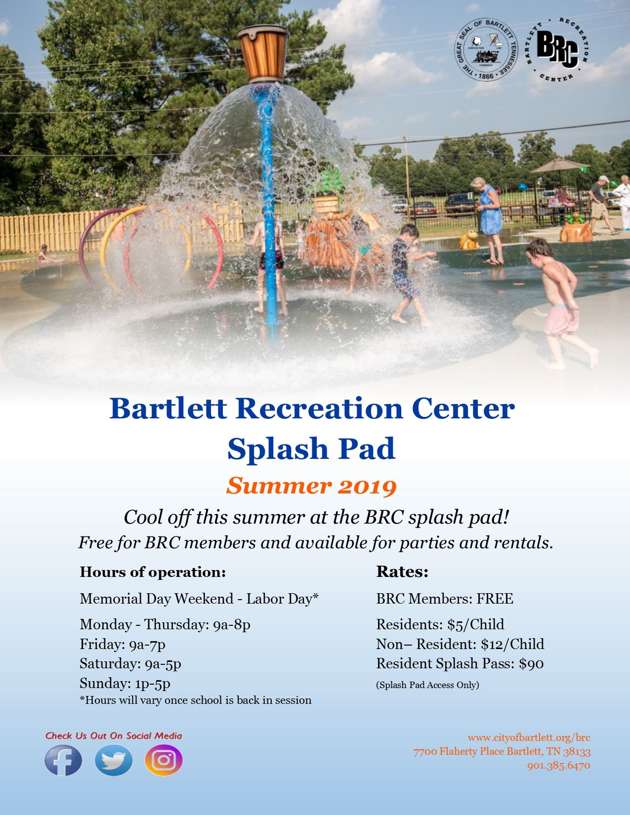 Splash Pad 2019 Flyer