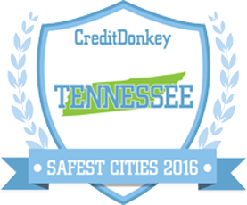 creditdonkey tennessee safest cities 2016