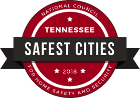 Tennessee Safest Cities 2018 Seal National Council for Home Safety and Security