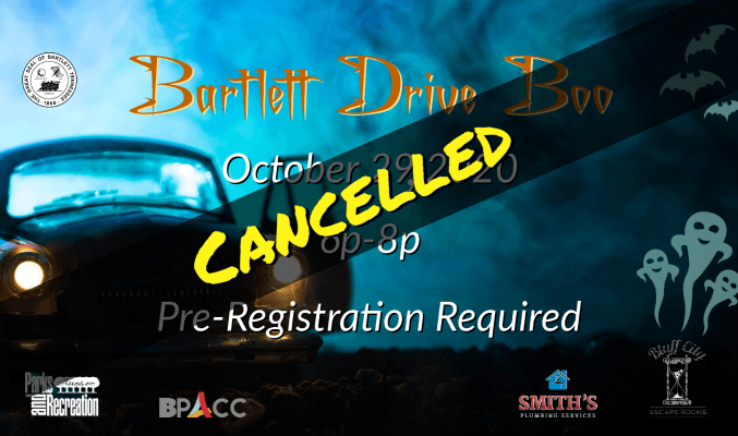 Bartlett Drive Boo event on October 29, 2020