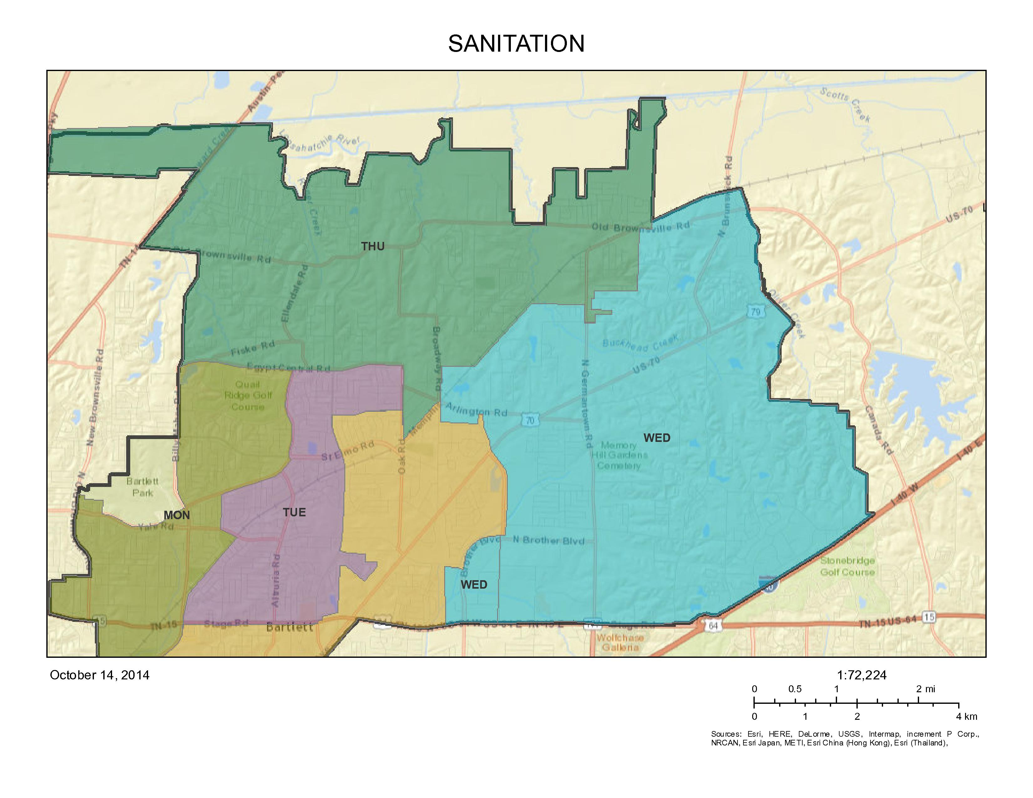Sanitation Pick up map Opens in new window