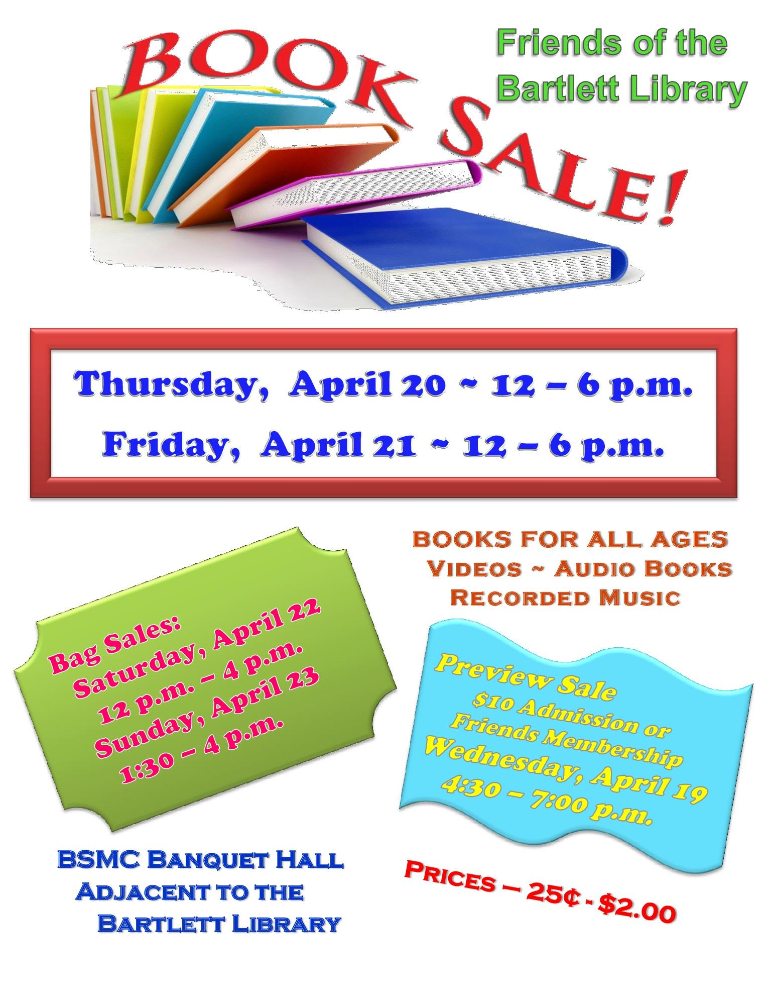 Book Sale Flyer (2017)