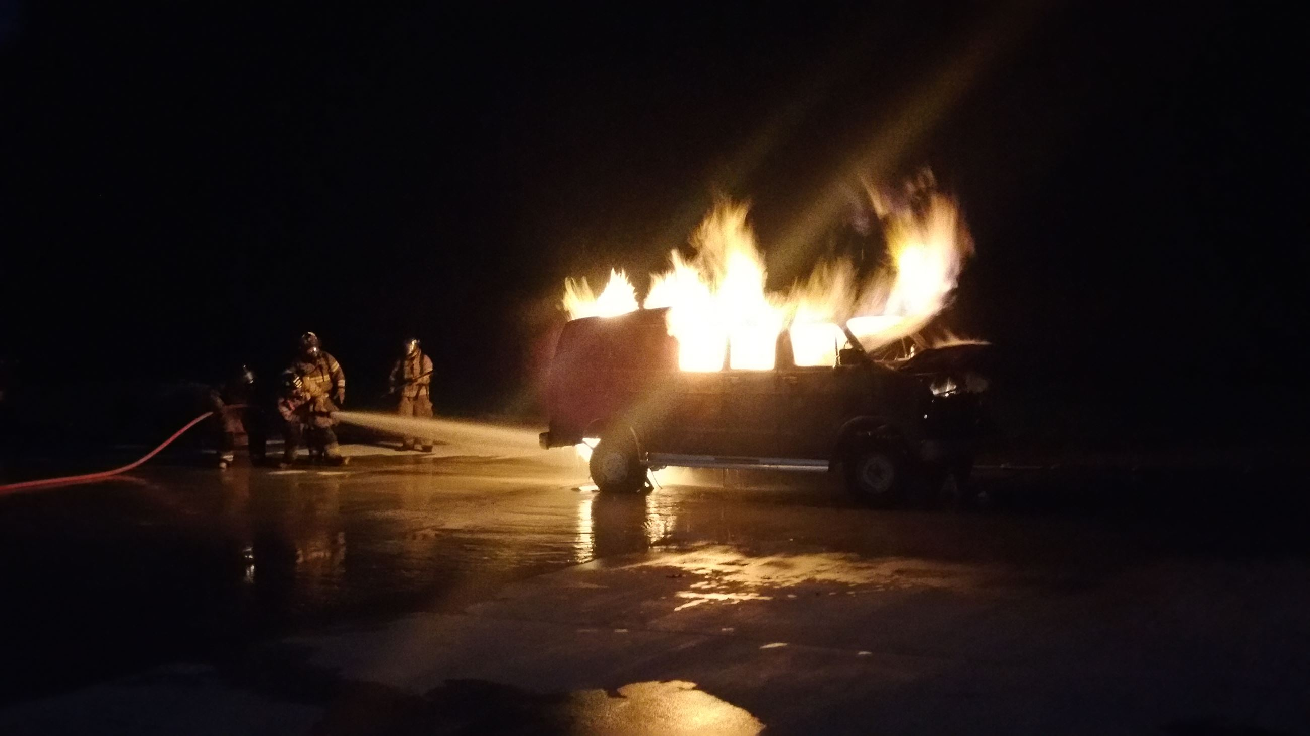 Car fire training 3