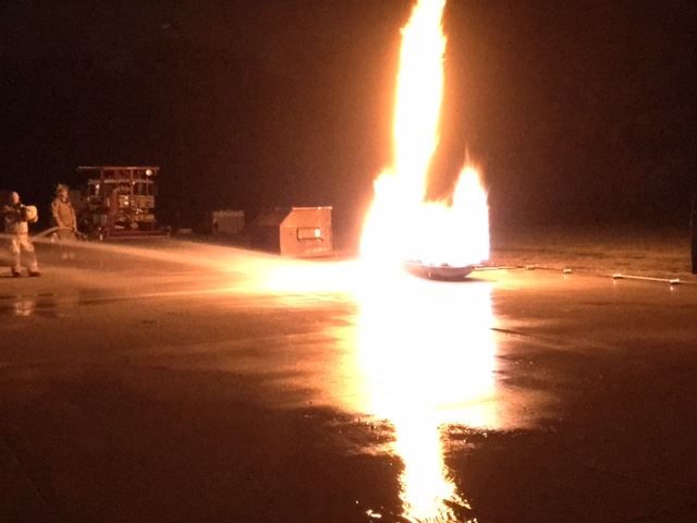 Propane tank fire training 1