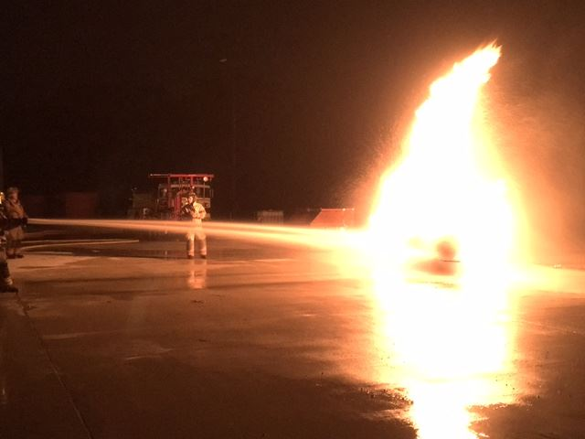 Propane tank fire training 2
