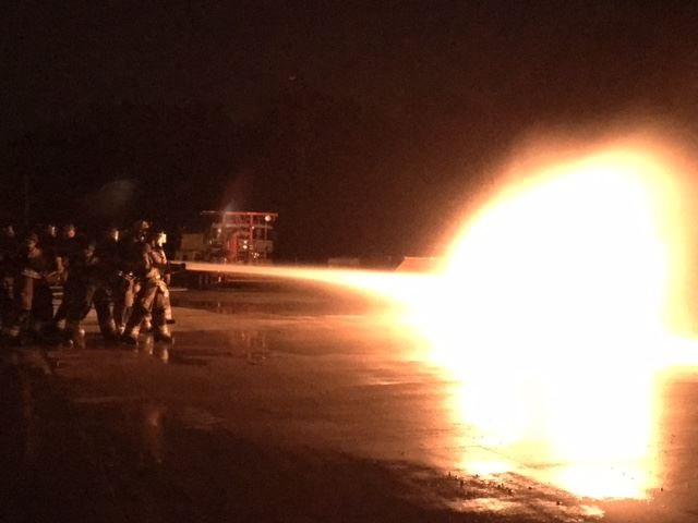 Propane tank fire training 3