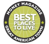 Top 100 best places to live logo
